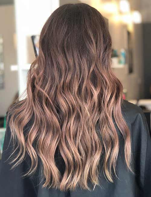 14. Sandy Brown Ombre