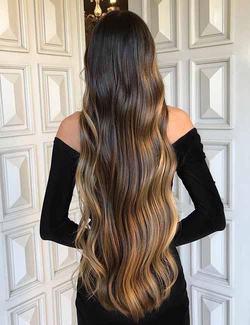 14. Sombre On Long Dark Hair