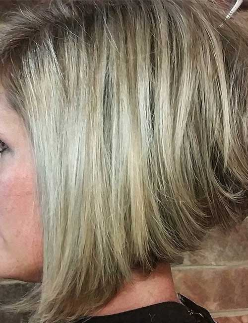 15. A-Line Dirty Blonde Stack