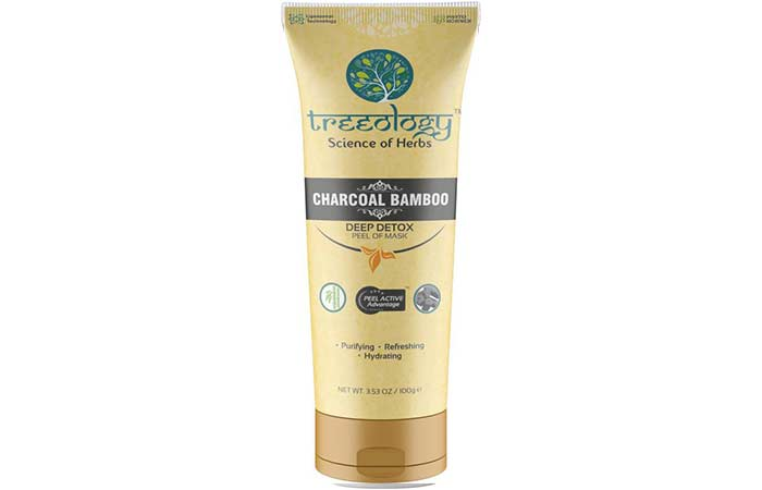 Best Charcoal Face Masks - Treeology Charcoal Bamboo Peel Of Mask
