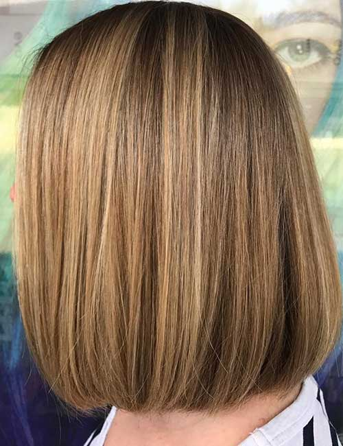 16. Smooth Light Brown Bob
