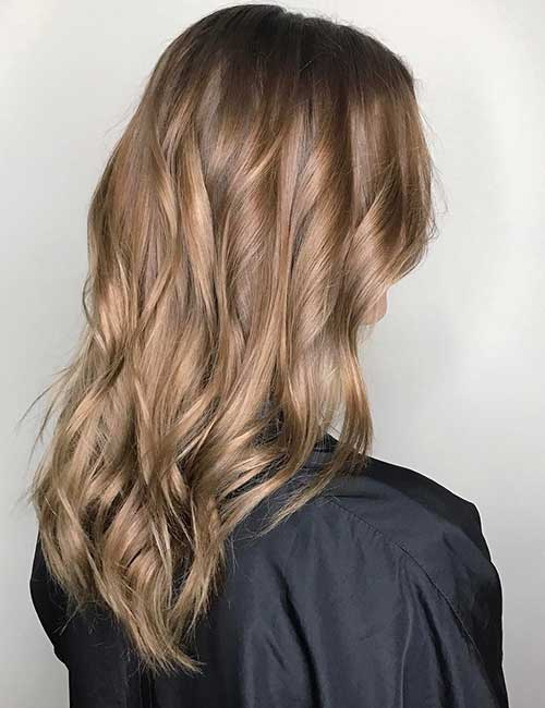 17. Fall-Inspired Light Brown Hair Color