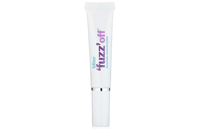 2. Bliss 'Fuzz' Off Facial Hair Removal Cream