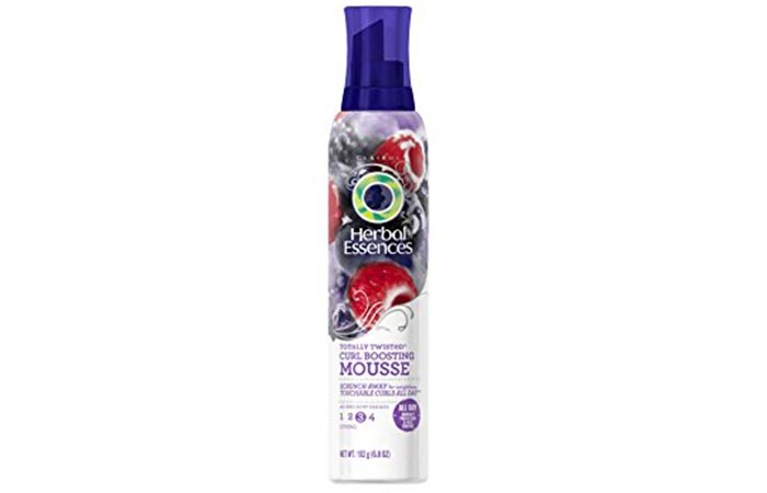 2. Herbal Essences Totally Twisted Curl Boosting Mousse