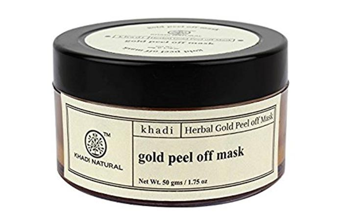 2. Khadi Natural Gold Peel Off Mask