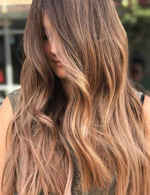 Light Brown With A Subtle Balayage