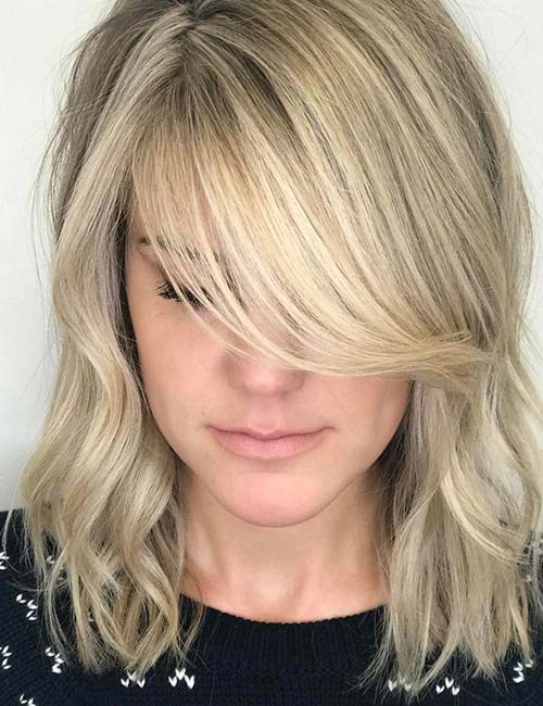 20 Hairstyles With Side Swept Bangs That Will Sweep You