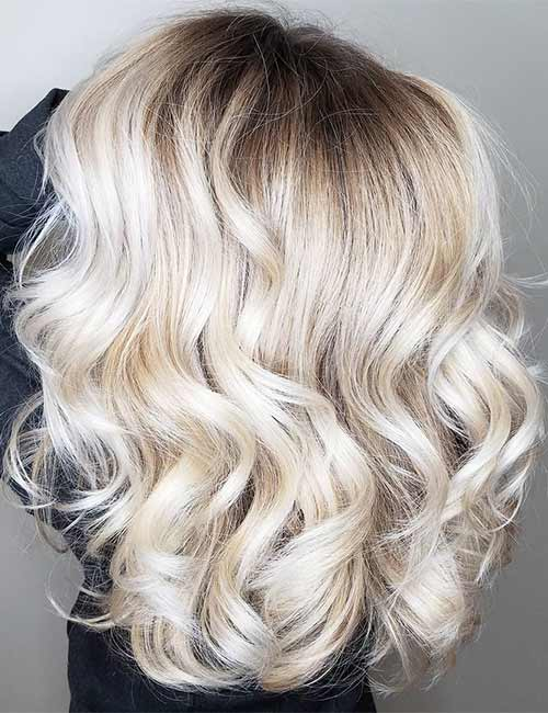 2. Pale Blonde Root Melt