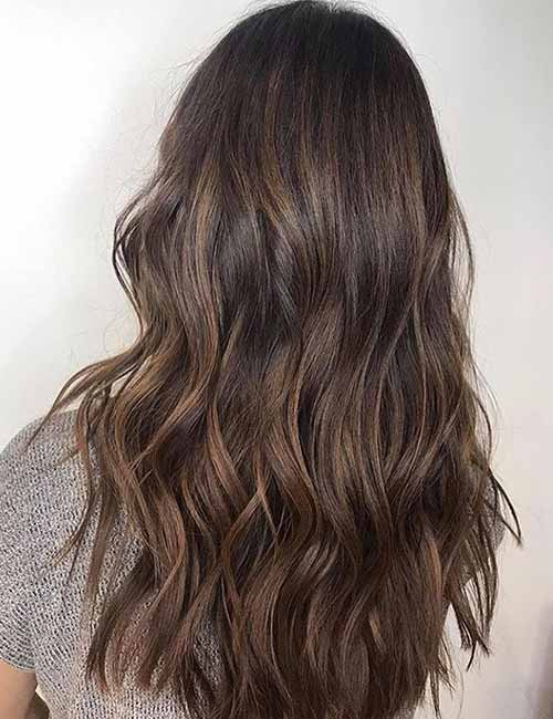2. Subtle Chocolate Brown Ombre