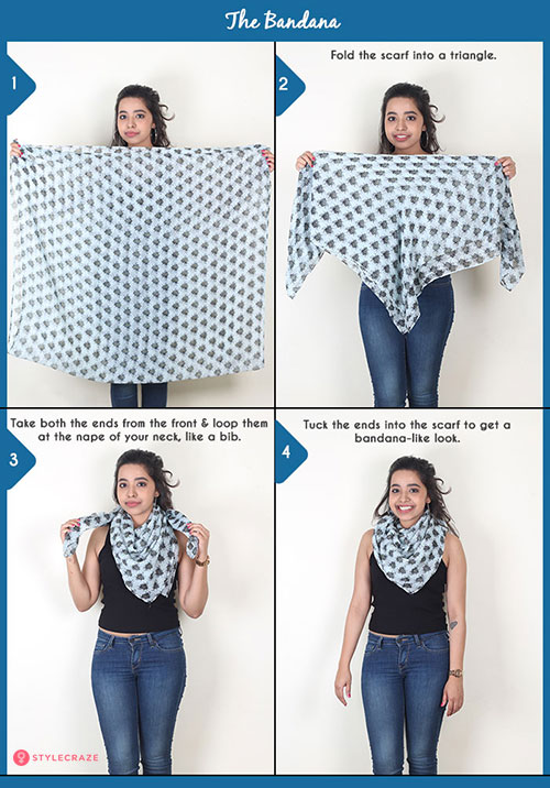 How to wear a blanket scarf - . The Bandana