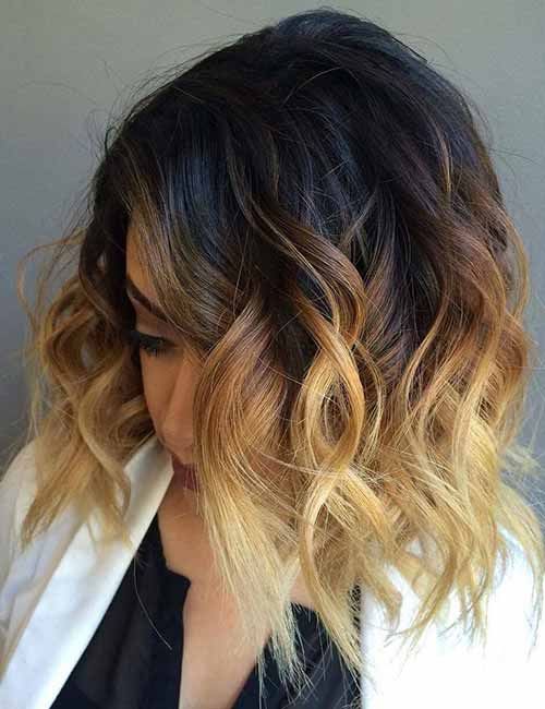 20. Blonde Ombre Layered Bob