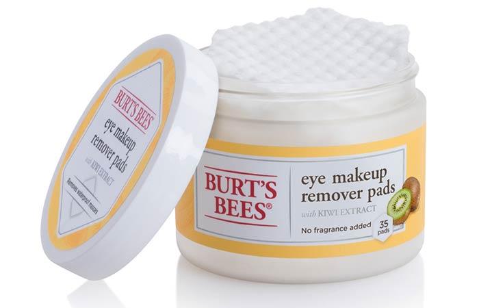 20. As almofadas de removedor de maquiagem de olhos de abelhas de Burt