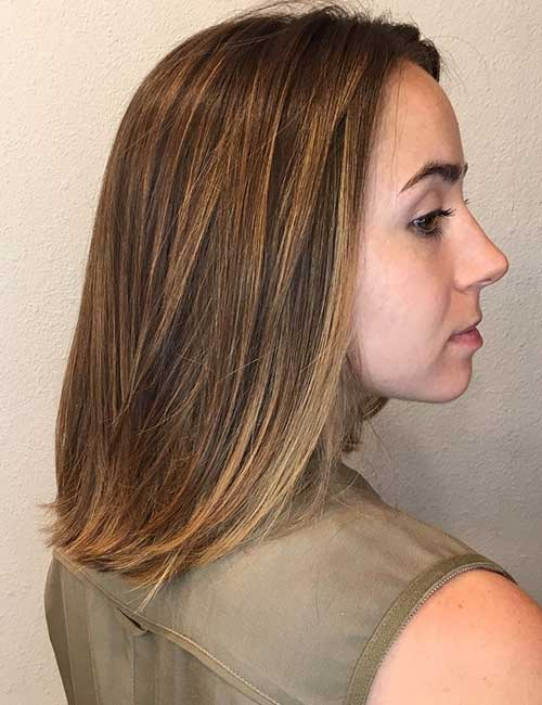 Dark brown chocolate color w caramel highlights