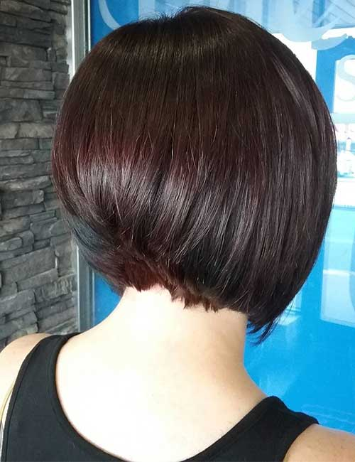 21. Smooth Dark Cherry Stack With Turquoise Lowlights