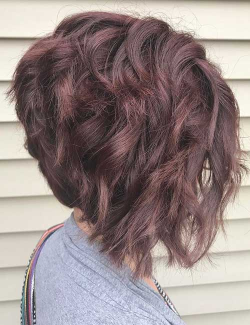 stacked bob haircuts for curly hair stacked bob haircut for wavy hair haircuts models ideas 4520