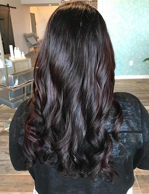 Dark Brown Hair With Burgundy Highlights Rich Color Red