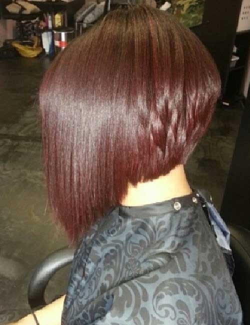 29. Sleek Stacked Bob