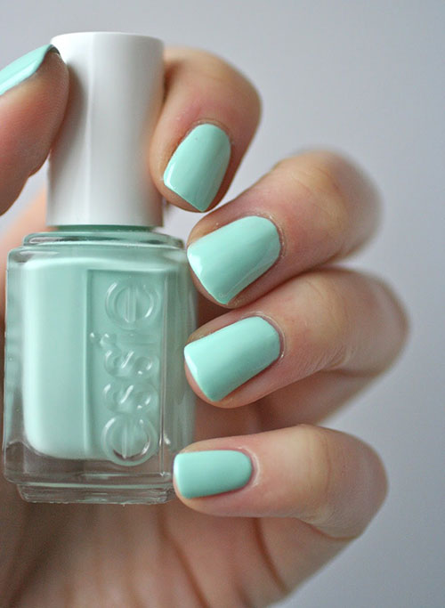 "3. Essie Nail Polish In ""Mint Candy Apple, Green"" - Best Drugstore Nail Polish"