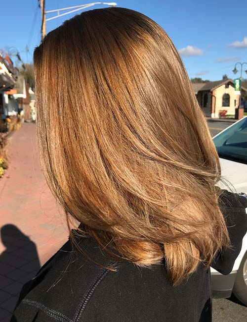 Exceptional Light Golden Brown Hair Color Design Inspirations