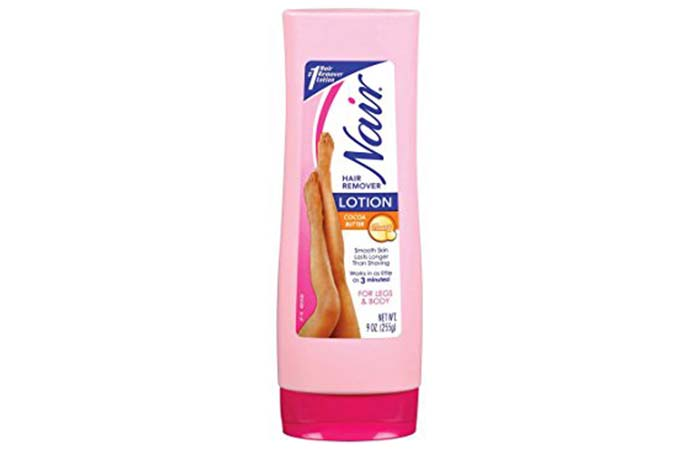 3. Nair Cocoa Butter Hair Remover Lotion