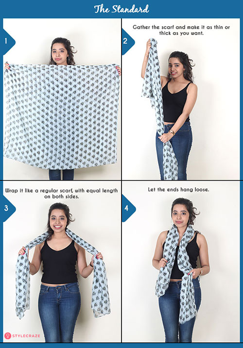 How to wear a blanket scarf - The Standard