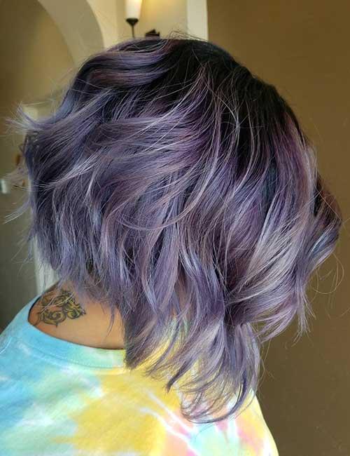 30. Wavy Lilac Stacked Lob