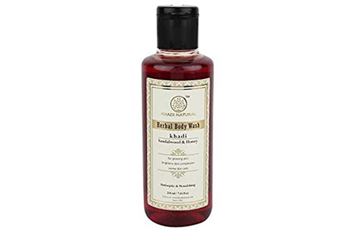 4. Khadi Sandal and Honey Body Wash