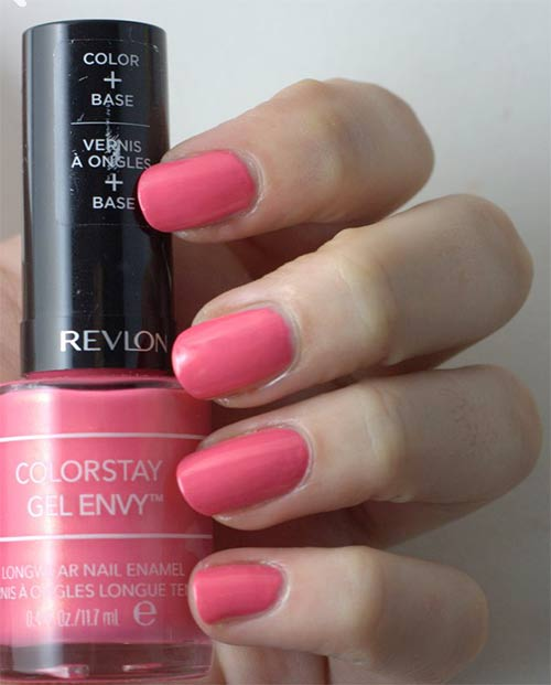 "4. Revlon ColorStay Gel Envy Longwear Nail Enamel In ""Lady Luck"" - Best Drugstore Nail Polish"