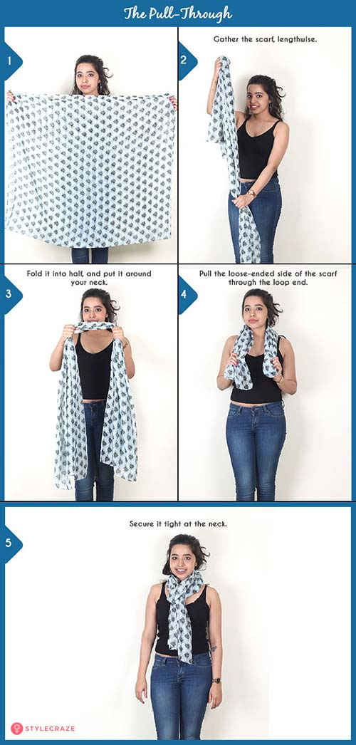How to wear a blanket scarf - The Pull-Through