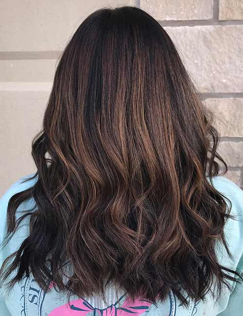 25 gorgeous highlight ideas for dark hair 4 warm brown pmusecretfo Choice Image