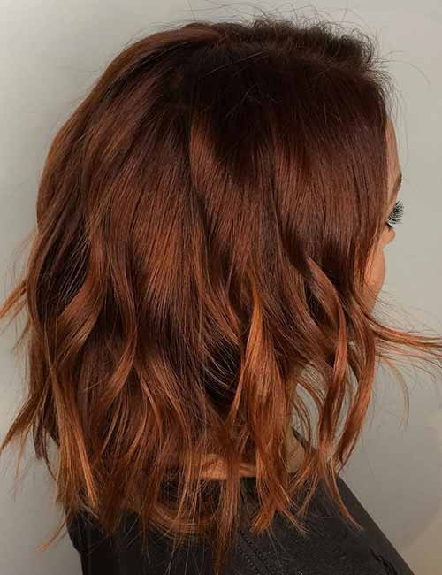 5. Autumnal Texturized Layered Bob