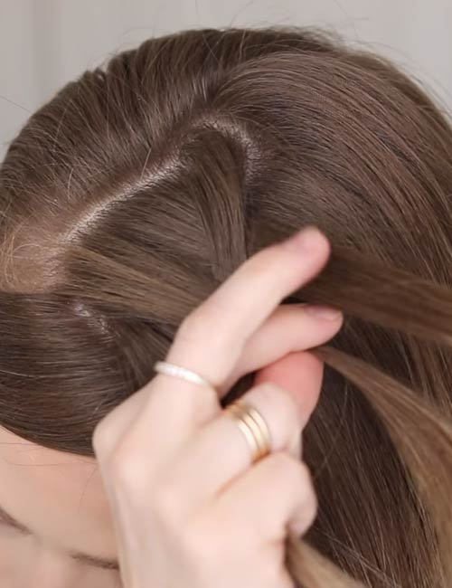 5. Do one stitch of braiding