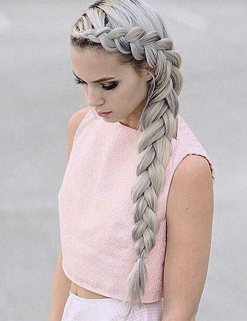5. Inverted Side French Braid