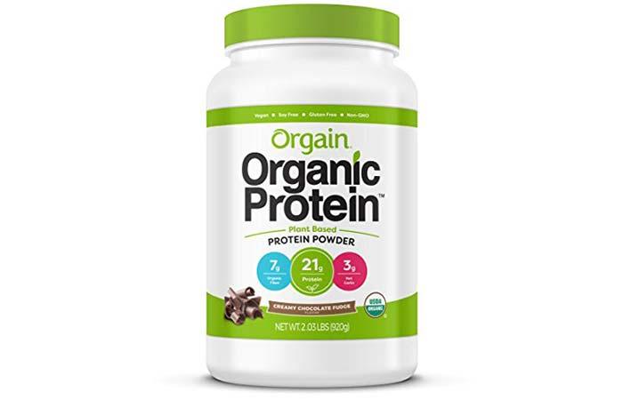 5. Orgain Organic Plant Based Protein Powder