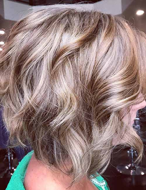 6. Ash Blonde Layered Bob