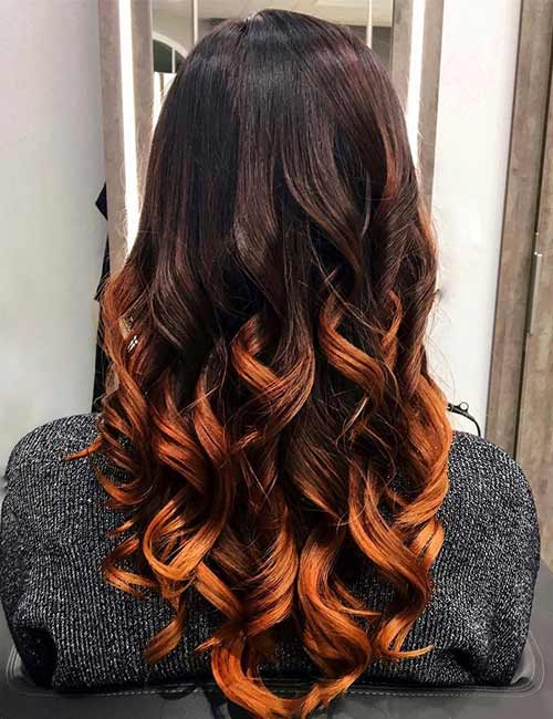 6. Brown And Copper Ombre