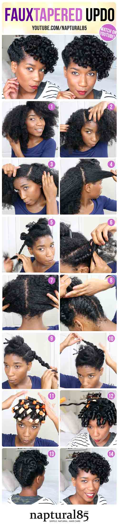 6. Faux Tapered Updo