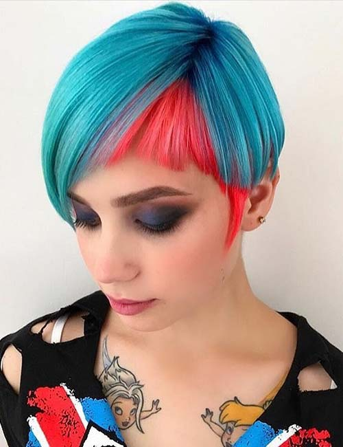 6. Pixie With Cropped Side-Swept Bangs