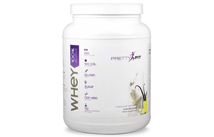 6. PrettyFit All-Natural Whey Protein Isolate