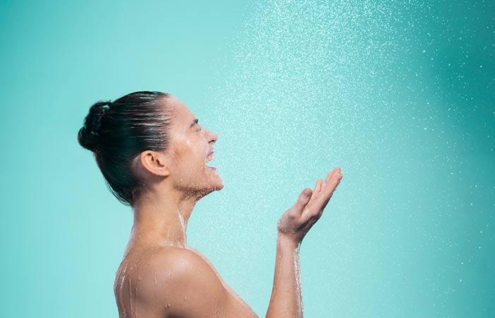 6. Taking A Warm Shower