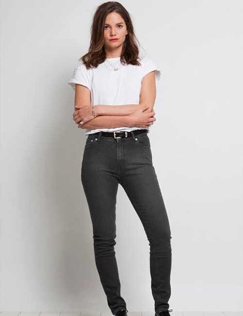6. With A Plain White T-Shirt, Tucked In