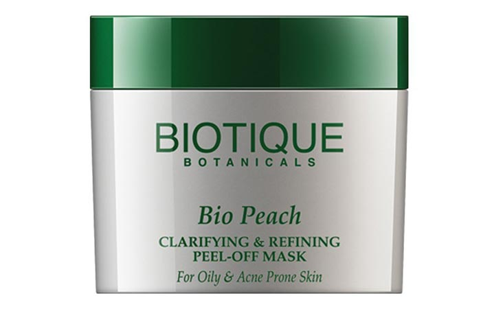 6.Biotique Bio Peach Clarifying and Refining Peel off Mask