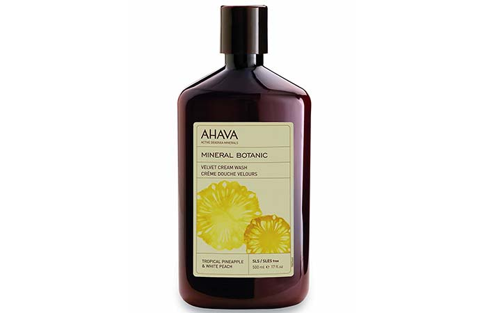 7. Ahava Pineapple And Peach Cream Wash