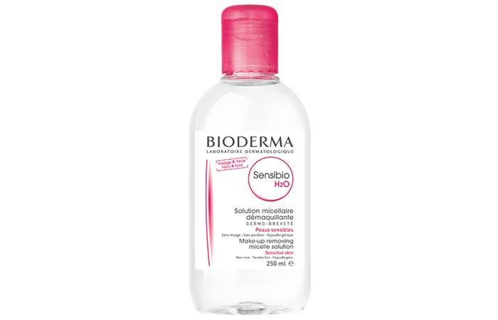 7. Bioderma Sensibio H20 Micellar Water, Cleansing And Makeup Removing Solution