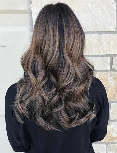 Hair Black with caramel tips