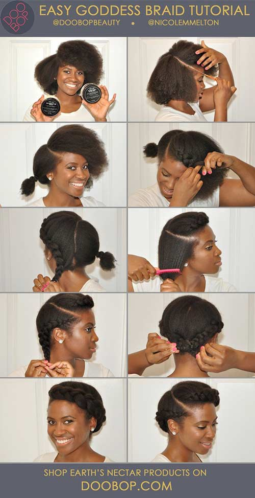 7. Easy Goddess Braid
