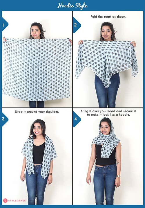 How to wear a blanket scarf - Hoodie Style