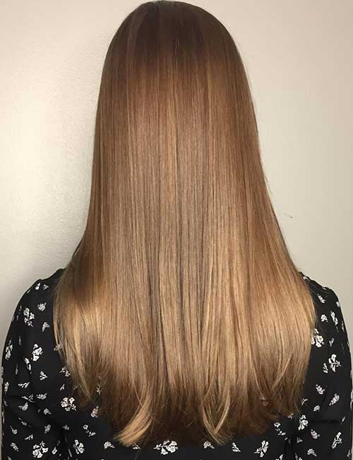 7. Soft Light Brown Balayage