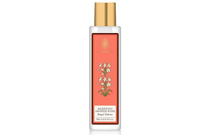 8. Forest Essentials Bengal Tuberose Silkening Shower Wash