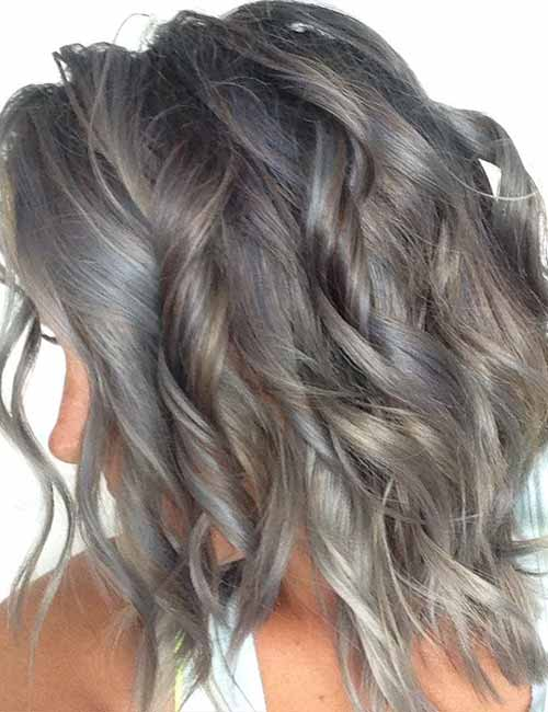 8. Granite Gray Layered Bob
